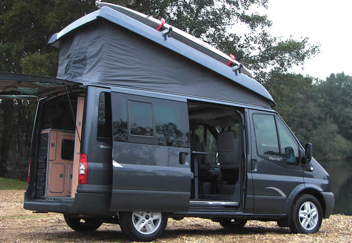 ford transit westfalia nugget elevating roof camper van. Black Bedroom Furniture Sets. Home Design Ideas